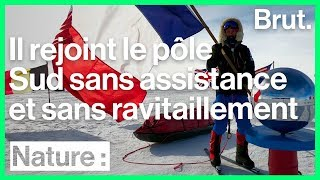 Matthieu Tordeur raconte son expédition en solitaire au pôle Sud