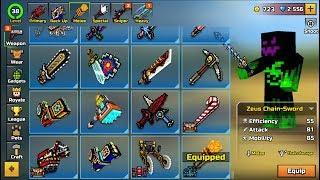 Pixel Gun 3D - Using All Melee Weapons Challenge