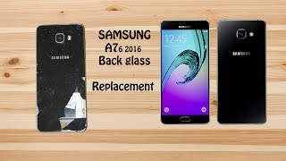 How to replace back cover glass of Samsung A7 2016 |back glass replacement|