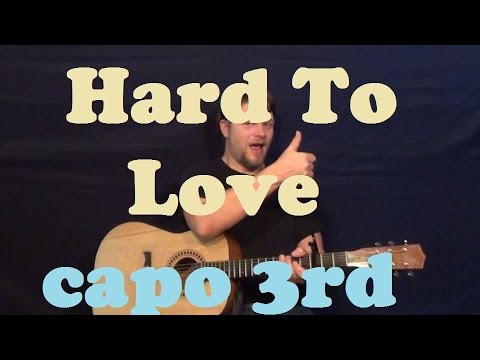 Hard To Love (Lee Brice) Easy Guitar Lesson Strum Chords Licks How to Play Hard to Love Tutorial