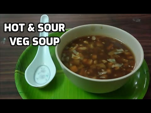 Hot & sour veg soup l appetiser l quick l like knorr soup l tamil