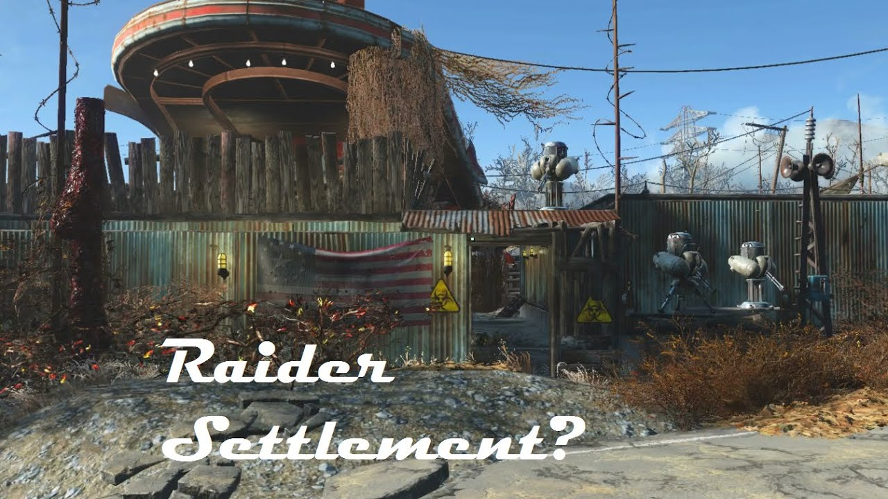 Fallout 4 red rocket raider settlement build tour youtube for Best house designs fallout 4