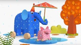 Деревяшки -  Грибы +  Полёт - развивающие мультфильмы для самых маленьких  0-4