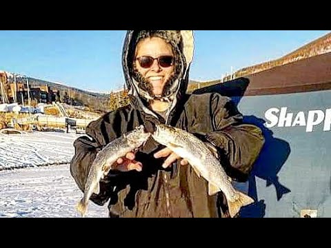 Ice Fishing Lake Dillon, Colorado (Rainbow Trout)