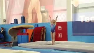 Прыжок Цукахара. 3й взрослый разряд. Аня Крайнова. 07.04.18.