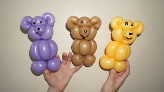 как сделать медведя из шариков