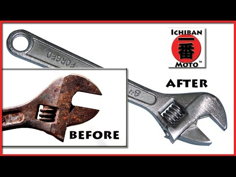 How To Remove Rust With From Metal And Tools Diy Electrolysis Process For Motorcycles Auto Parts You