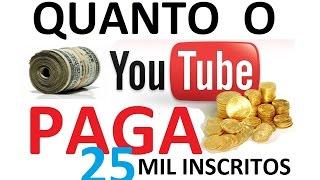 Quanto o youtube paga, quanto um youtuber ganha (25 mil inscritos) adsense como monetizar