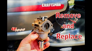 How To DIY: Craftsman LT1000 Lawn Mower. Deck Removal a