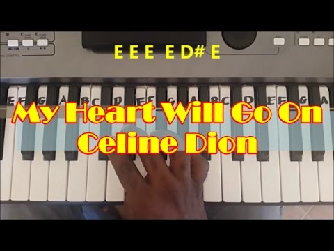 My Heart Will Go On Easy Piano Keyboard Tutorial – Titanic Theme