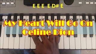 My Heart Will Go On Easy Piano Keyboard Tutorial - Titanic Theme
