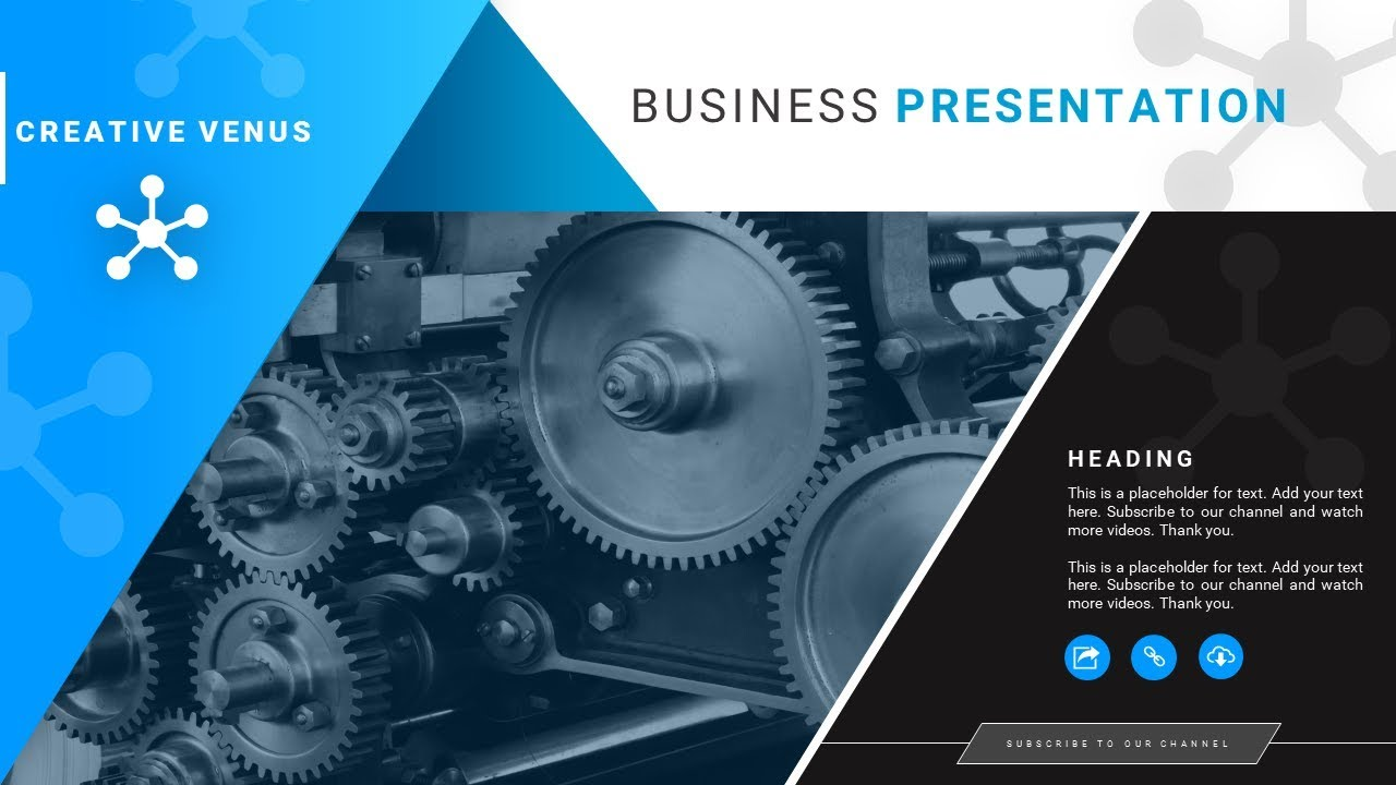 How To Create a Cover Slide for Mechanical or Technical Industry Presentation in PowerPoint PPT