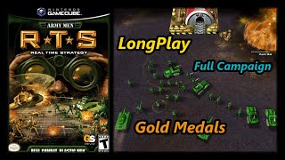 Army Men: RTS - Longplay (Gold Medals) Campaign Full game Walkthrough (No Commentary) (Gamecube,Ps2)