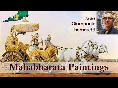 Mahabharata Paintings by Italian Artist Giampaolo Thomasetti