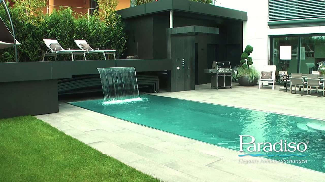 automatische paradiso pool berdachung youtube. Black Bedroom Furniture Sets. Home Design Ideas