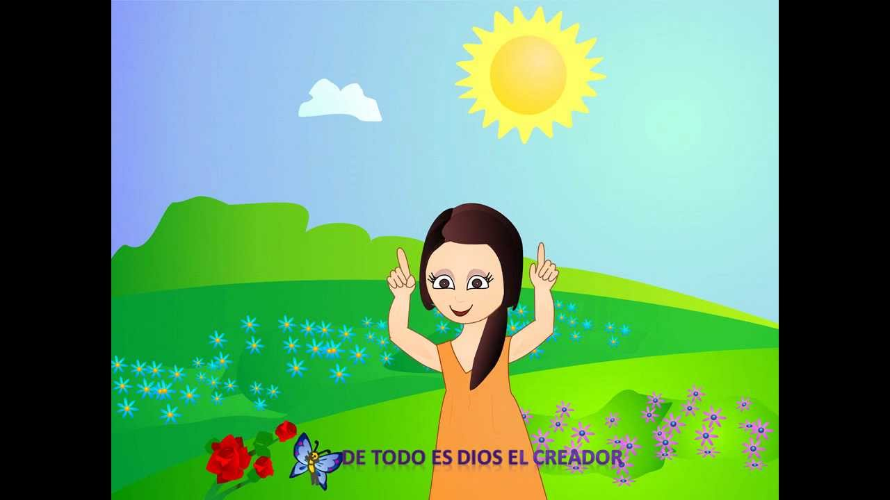 Musica infantil bellas flores en el jard n youtube for Cancion en el jardin