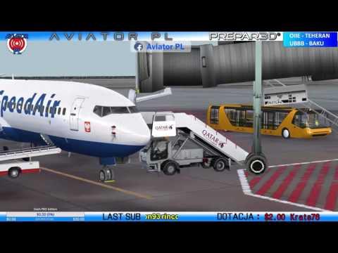 P3D Vatsim Boeing 737-800 I OIIE - UBBB