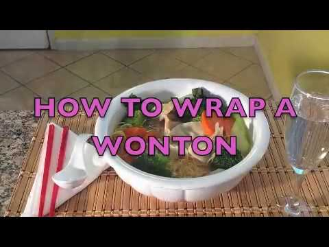 Chinese Dumplings-How to Wrap Wontons Vietnamese Dumplings