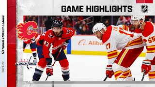 Flames @ Capitals 10/23/2021 | NHL Highlights