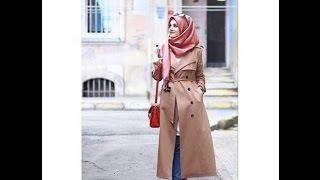 أجمل ازياء المحجبات شتاء 2017 ملابس شتوية للمحجبات -  winter hijab outfits -part2-