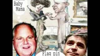 Improved Version of New Yorker cover cartoon - Obama as terrorist + Sean Hannity, Rush Limbaugh