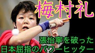 【卓球】日本屈指のパワーヒッター:梅村礼【張怡寧を破った日本選手】 thumbnail
