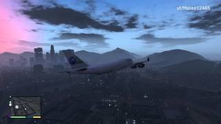 GTA V: How to Get A Big Plane & Fly it. (GTA 5 Plane Tutorial)