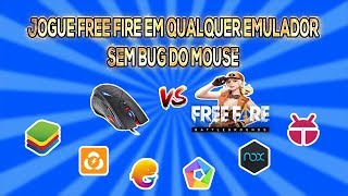 Como tirar o bug do mouse no free fire em qualquer emulador