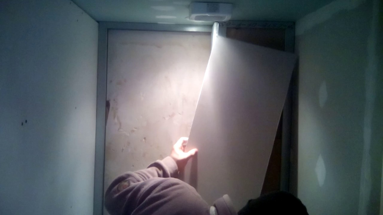 pose placo isolation en carton ondul wc amateur. Black Bedroom Furniture Sets. Home Design Ideas