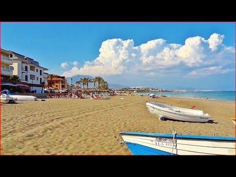 Испания Пляж Сабинильяс Город Манильва Коста Дель