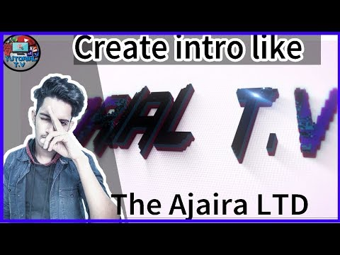 How to Create intro like The Ajaira LTD in bangla || with after affect template || Tutorial T.V pro