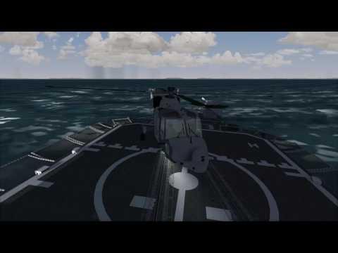 [FlightGear] AW159 Wildcat Rough Sea Trials