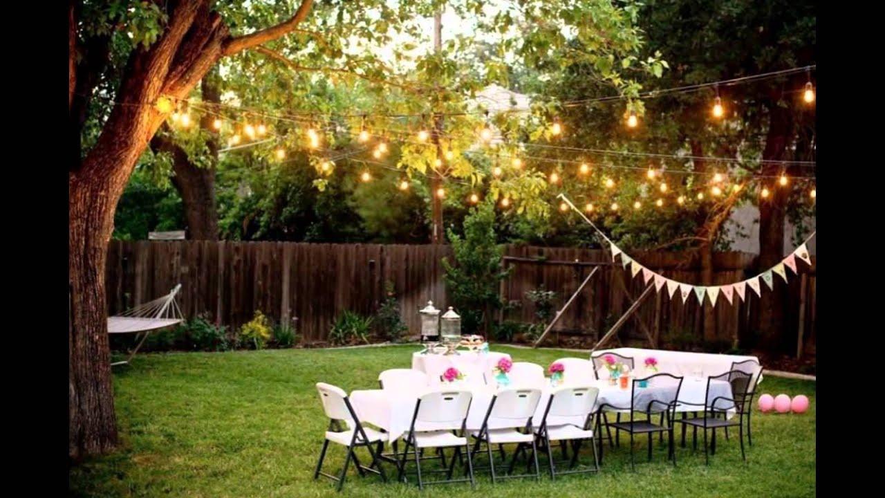 Backyard Wedding Ideas - YouTube