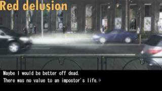 Chaos Head Game - Taku tries commit suiside