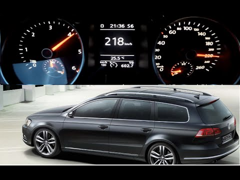 VW Passat Variant 0-218 km/h 2.0 TDI 4Motion DSG 170PS ...
