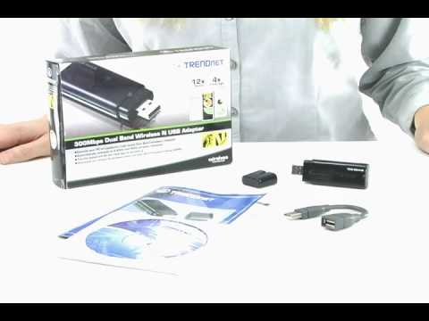 Spotlight: 300Mbps Dual Band Wireless N USB Adapter TEW-664UB (802.11n) TRENDnet TV