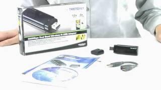 spotlight 300mbps dual band wireless n usb adapter tew 664ub 802 11n trendnet tv