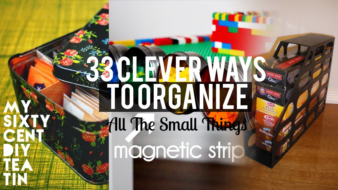 33 Organizing Small Things Ideas Youtube