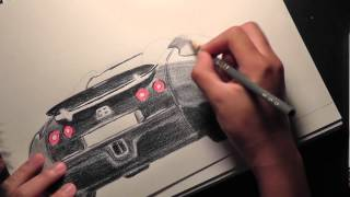 Speed Drawing 1080p: Bugatti Veyron