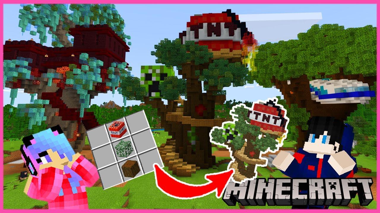 MineCraft มายคราฟแต่เราสามารถคราฟบ้านต้นไม้ได้หลายแบบ
