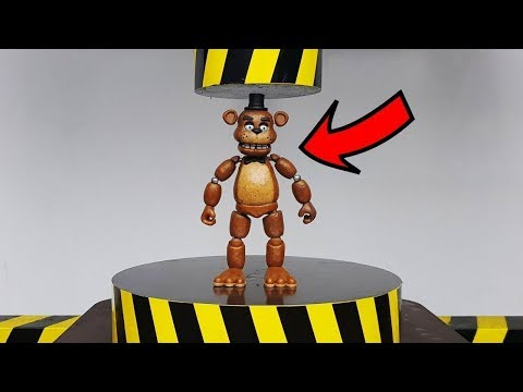 EXPERIMENT HYDRAULIC PRESS 100 TON vs Five Nights at Freddy (FNAF Action Figure) thumbnail