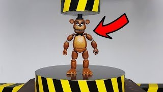 EXPERIMENT HYDRAULIC PRESS 100 TON vs Five Nights at Freddy FNAF Action Figure