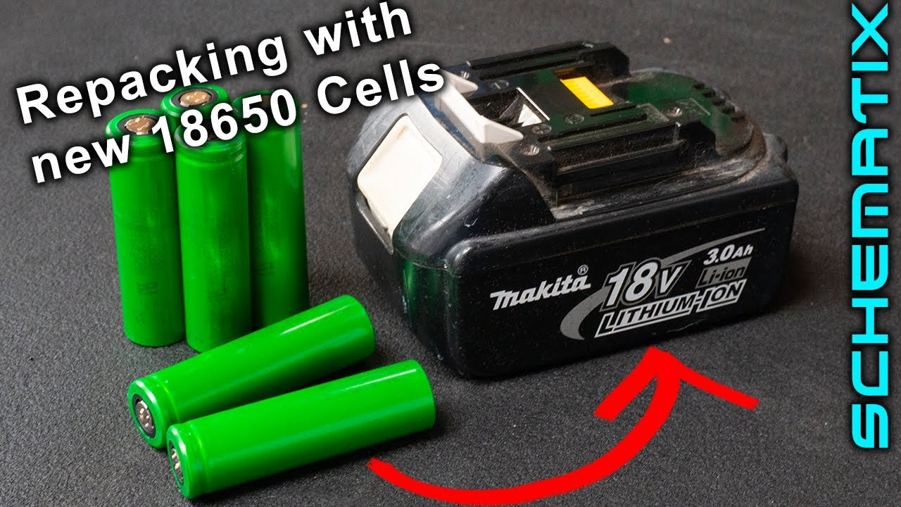 Repacking Makita 18v Lithium Battery With New Cells Save S Youtube