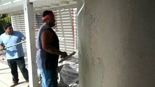 Stucco sand finish for beginners