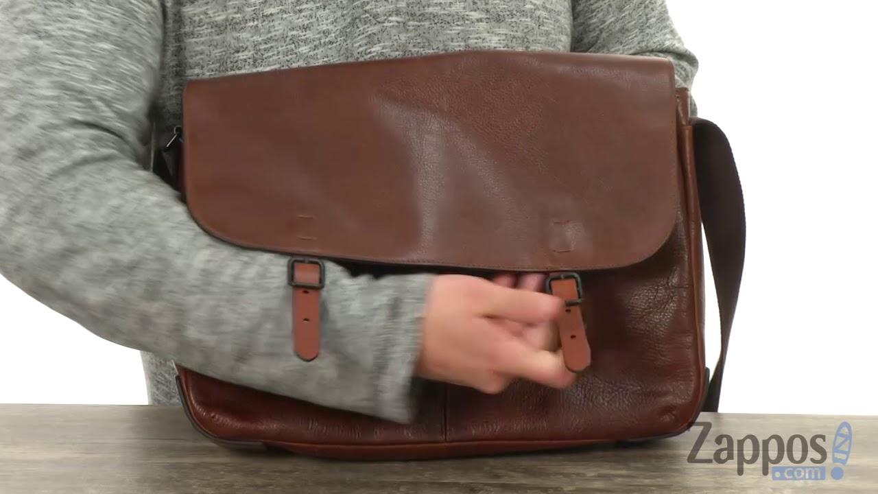 bc93385883ae Fossil Buckner Top Zip Workbag SKU  9035630 - YouTube