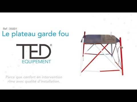 Plateau De Travail Pour Garde Fou Ted Equipement Youtube