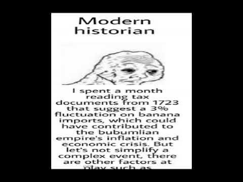virgin modern historian vs CHAD ancient historian