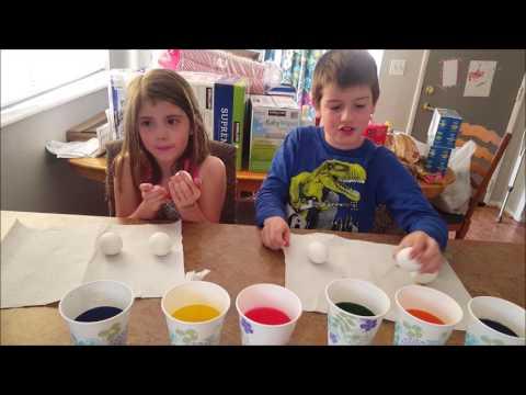 Kid Temper Tantrum Breaks Sister's Easter Egg During Easter Egg Decorating [ Original ]