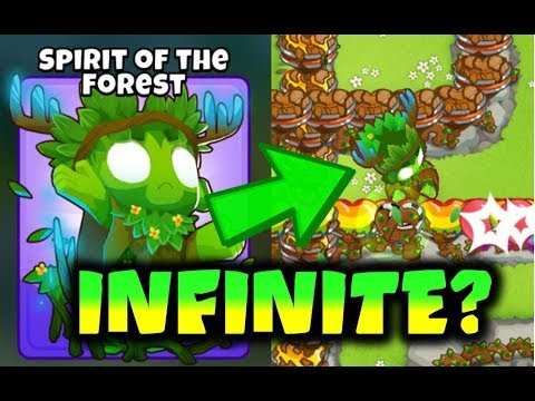 Bloons TD 6 - 5th Tier DRUID Spirit of the Forest Has INFINITE Bloon Popping Power? (on long maps)