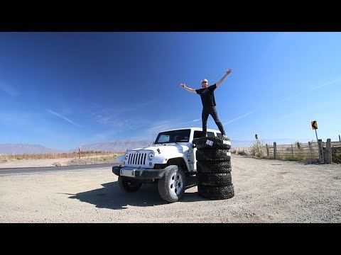 You'll NEVER believe the GIRTH of my new TIRES & WHEELS - Jeep Wrangler Transformation!